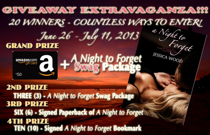 A Night to Forget - Giveaway Extravaganza